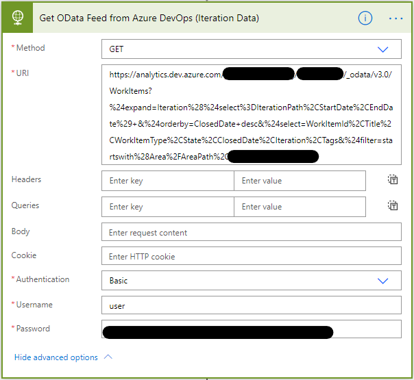 Getting Azure DevOps Analytics OData